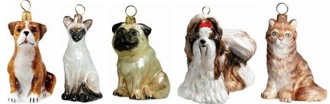 Dog and Cat Christmas Ornaments