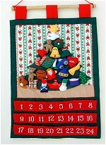 Tree Advent Calendar with Teddy Stripes
