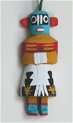 Crazy Rattle Kachina Ornament