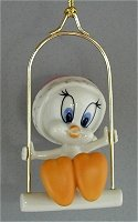 Tweety on Swing Christmas Ornament