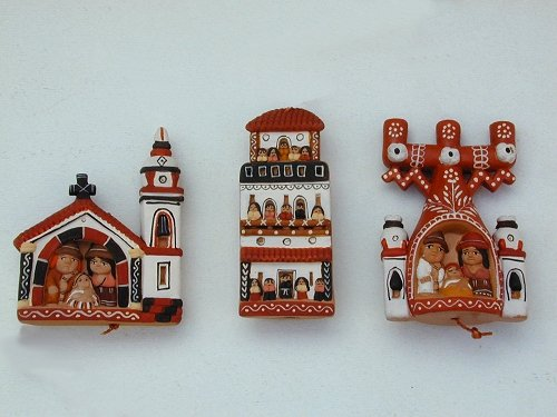 Peruvian Clay Christmas Ornaments