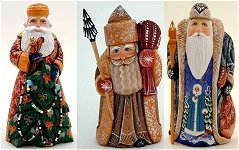 Christmas Wood Carvings Russian Santas