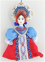 Blue and Red Doll