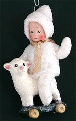 Snow Child with Lamb
